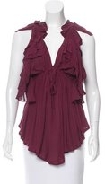 IRO Ruffle-Accented Sleeveless Top w/ Tags