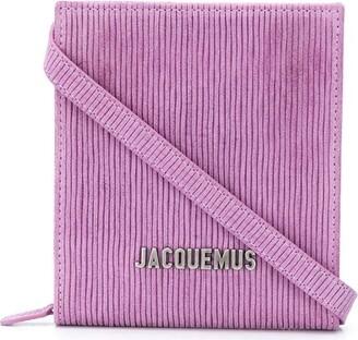 Jacquemus Logo-Lettering Striped Shoulder Bag