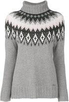 Woolrich intarsia roll-neck jumper - women - Cashmere/Wool - M