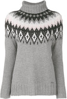 Woolrich intarsia roll-neck jumper - women - Cashmere/Wool - XS