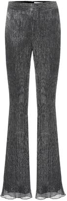 Peter Pilotto Pleated metallic jersey pants