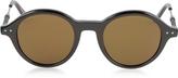 Bottega Veneta BV0095S 002 BV0107S Black Acetate Round Frame Men's Sunglasses