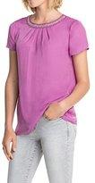 Esprit Women's Short Sleeve Blouse - Pink -