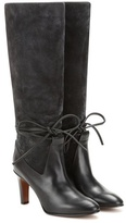 Chloé Suede And Leather Knee Boots