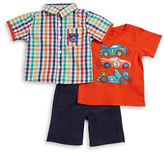 Nannette Baby Boys Three-Piece Shirt, Tee and Pants Set