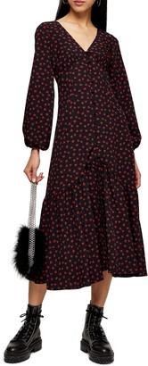 Topshop Rose Long Sleeve Shirtdress
