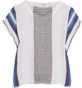 Lemlem Lula embroidered striped cotton-blend gauze top