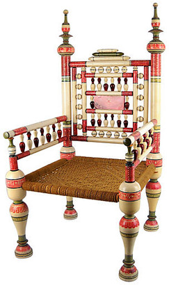 One Kings Lane Vintage Old Punjabi Indian Wedding Chair - Acquisitions Gallerie
