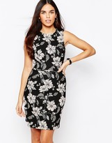 Warehouse Jacquard Floral Dress