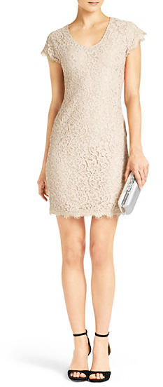 Diane von Furstenberg Wanda Lace Dress In Blue Moon