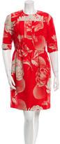 Jonathan Saunders Short Sleeve Floral Print Dress