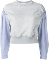 3.1 Phillip Lim pinstripe sleeve sweatshirt