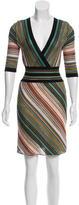 M Missoni Metallic-Accented Wool-Blend Dress