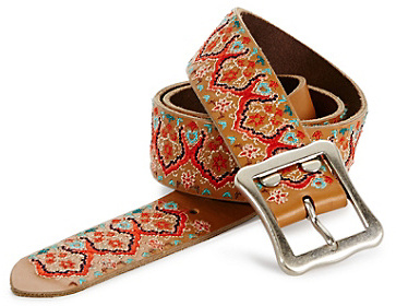 Lucky Brand Multi Embroidered Belt