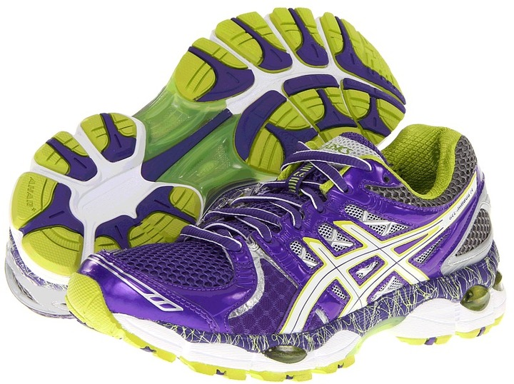 Asics GEL-Nimbus 14 Limited Edition (Purple/Lime/Charcoal) - Footwear