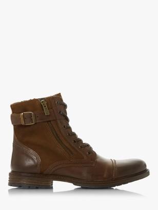 Dune Cloveland Buckle Zip Detail Boots