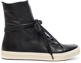 Rick Owens Leather Mastodon Sneaks