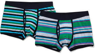 David Jones 2 Pack Stripe Trunk