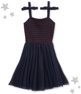 Petit Bateau Girls dual material strap dress