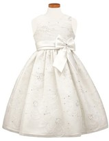 Sorbet Toddler Girl's Floral Satin Fit & Flare Dress