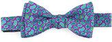 Ted Baker Micro-Paisley Silk Bow Tie, Pine/Purple