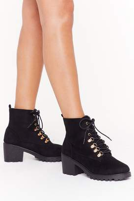 Nasty Gal Womens Can't D-ring Me Down Faux Suede Boots - black - 3