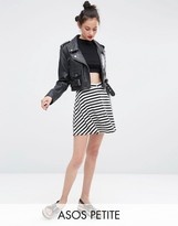 Asos Mini Skater Skirt with Poppers in Stripe