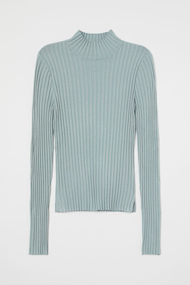 H&M Ribbed polo-neck jumper