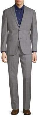 Saks Fifth Avenue Extra Slim Fit Plaid Wool Suit
