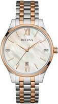 Bulova 98P150 Women's Two-tone Bracelet Band pearl Dial Round Watch