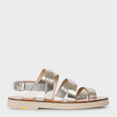 Paul Smith Women's Metallic Silver Leather 'Rio' Sandals