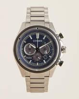 Citizen CA4240 Grey & Blue Eco-Drive Silver-Tone Watch