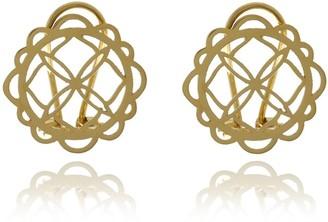 Georgina Jewelry Gold Signature Flower Earrings