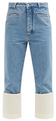 Loewe Fisherman Turn-up Cropped-leg Jeans - Denim