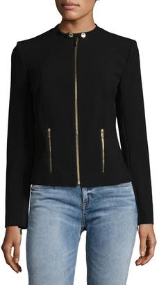 Calvin Klein Collection Collarless Zip Jacket