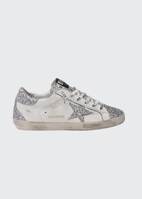 Golden Goose Superstar Glitter Low-Top Court Sneakers