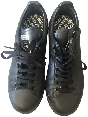 Raf Simons Adidas X Stan Smith Black Leather Trainers