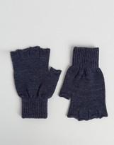 Asos Fingerless Gloves In Denim