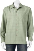 Men's Batik Bay Grid Easy-Care Casual Button-Down Shirt