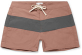 Saturdays NYC Grant Short-length Colour-block Swim Shorts - Pink