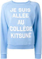 MAISON KITSUNÉ slogan sweatshirt - women - Cotton - L
