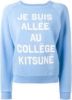 MAISON KITSUNÉ slogan sweatshirt
