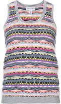 Carven patterned knit tank top