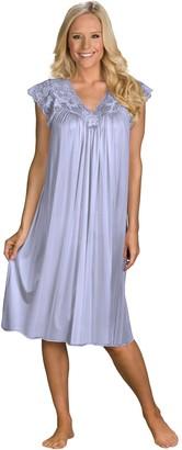 Shadowline Women's Silhouette 40 Inch Short Cap Sleeve Waltz Gown