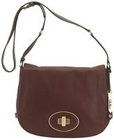 Leather Saddle Crossbody Flap Bag