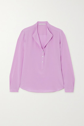 Stella McCartney Eva Silk Crepe De Chine Blouse - Lilac