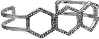 Vince Camuto Large Cuff Bracelet (Rhodium/Crystal) Bracelet