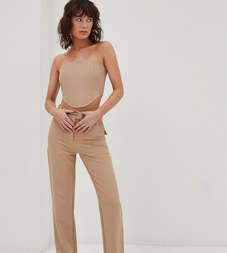 4th & Reckless Petite corset top in camel