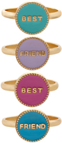 Accessorize 4 X Bff Ring Sets