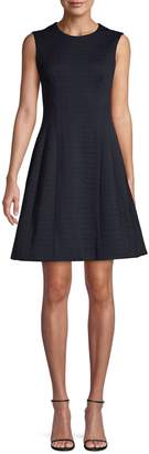 Eliza J Tonal Houndstooth Fit--Flare Dress